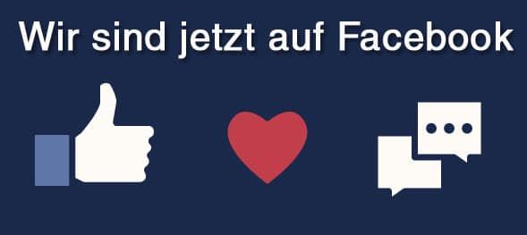 Wir sind jetzt auf Facebook!
