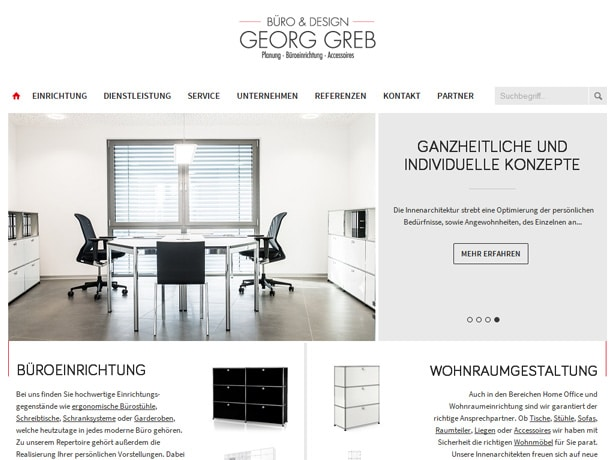Büro & Design Greb Tabletansicht
