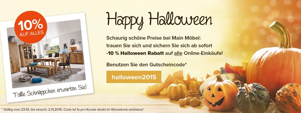 Main Möbel Aktionsteaser Halloweenaktion 2015