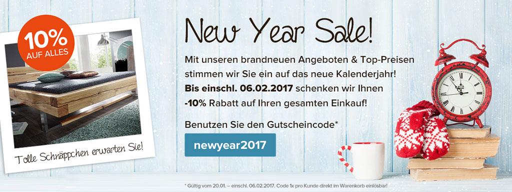 Main Möbel Aktionsteaser New Year Sale 2017