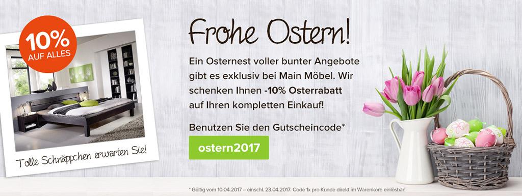 Main Möbel Aktionsteaser Osteraktion 2017