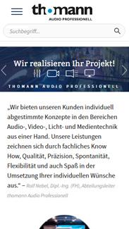 Thomann Audio Professionell Smartphone