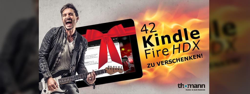 Thomann Aktionsteaser Kindle Fire HDX Aktion