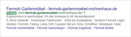Mohren-Haus Garten AdWords