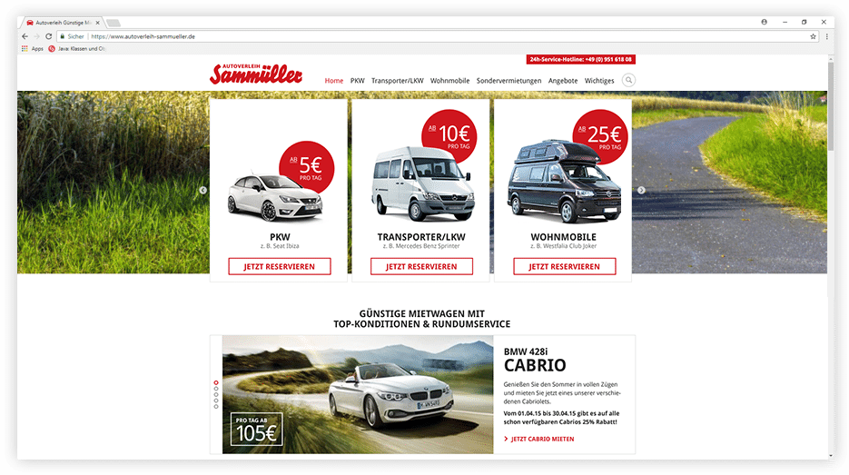 Autoverleih Sammüller