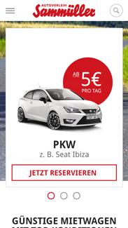 Autoverleih Sammüller Smartphone