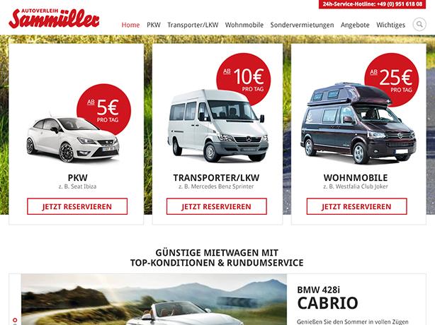 Autoverleih Sammüller Tablet
