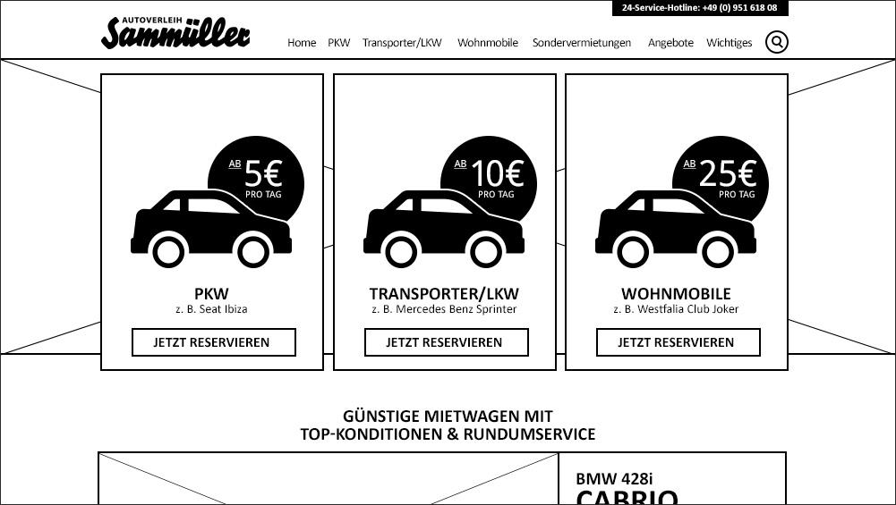 Autoverleih Sammüller Konzept