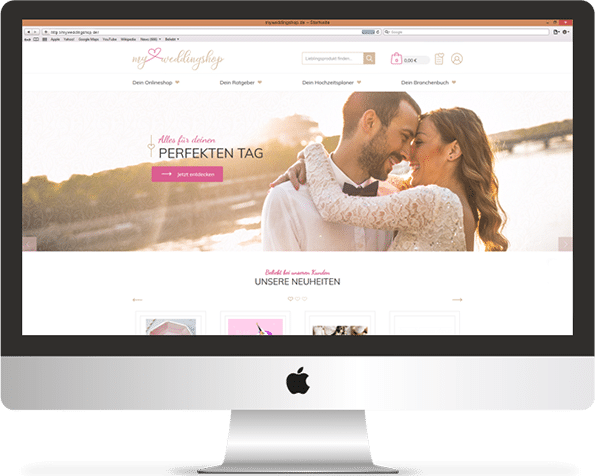Onlineshop Referenz Myweddingshop