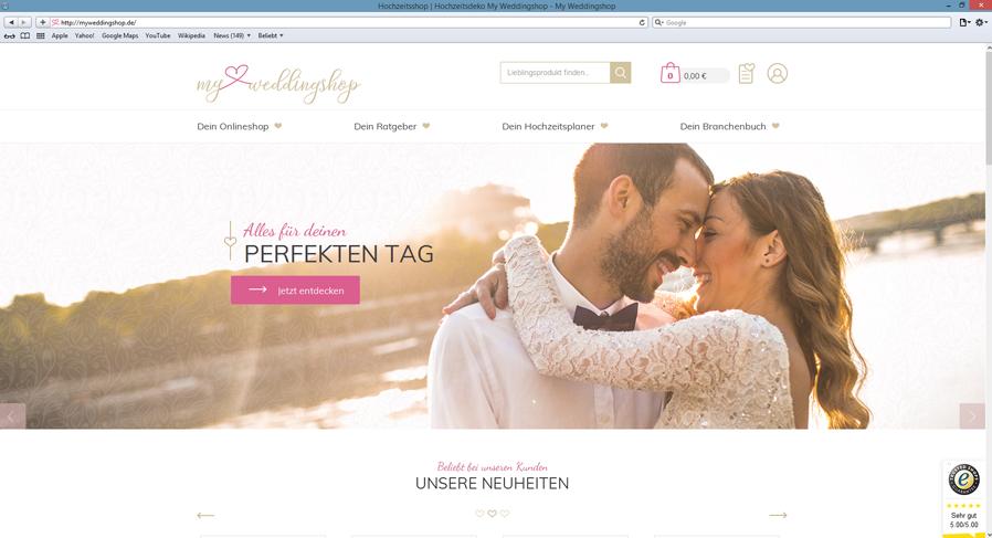 Referenzshop myweddingshop.de