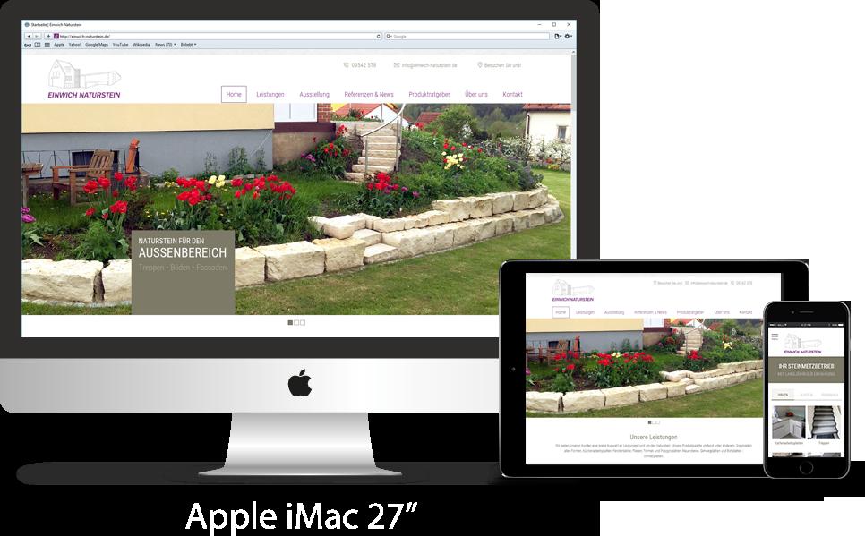 Responsive Webseite Einwich Naturstein