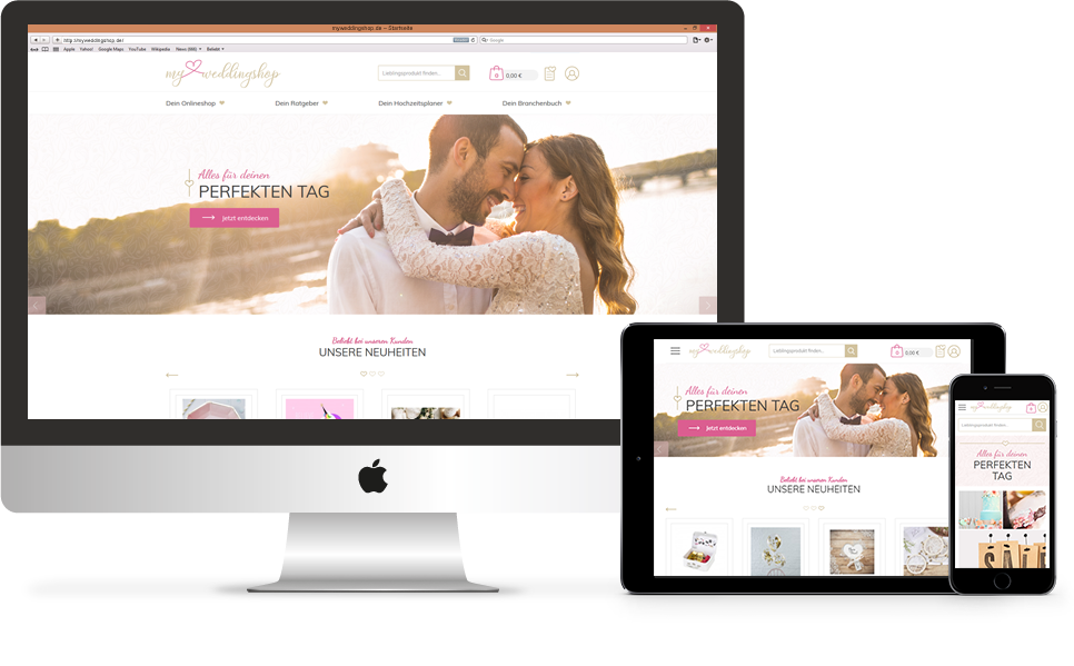 Responsive Webshop myweddingshop.de