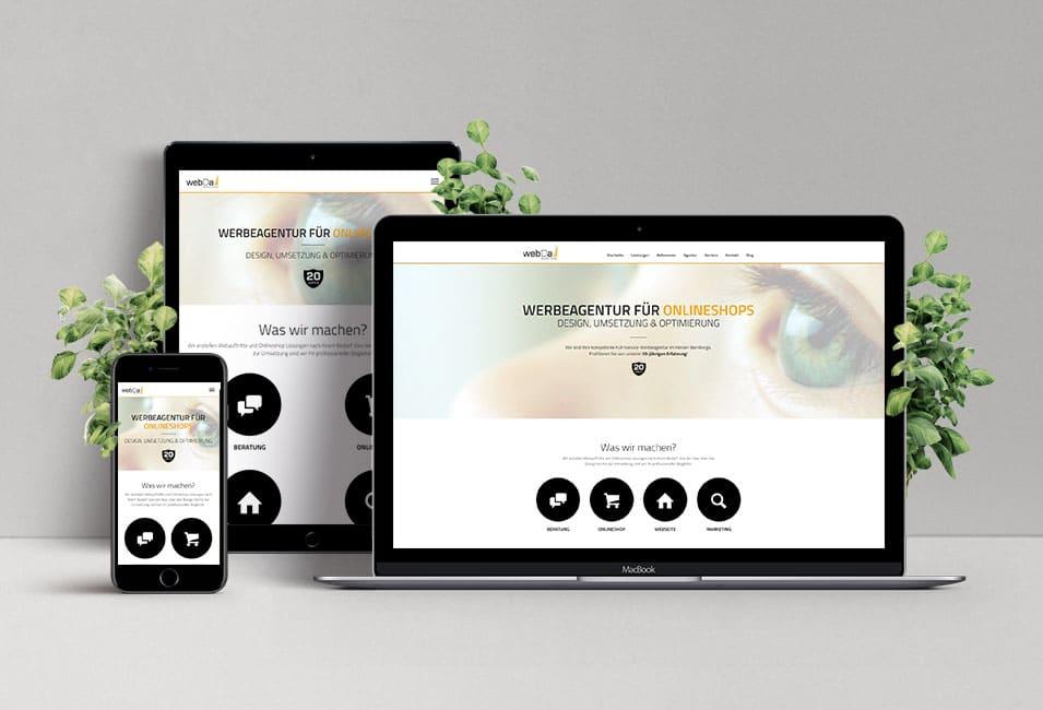 Webseite Mockup webDa Medien GmbH