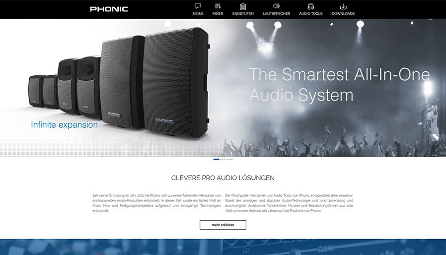 Phonic Desktopansicht #2
